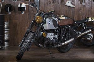 bmw silver cafe racer napoli